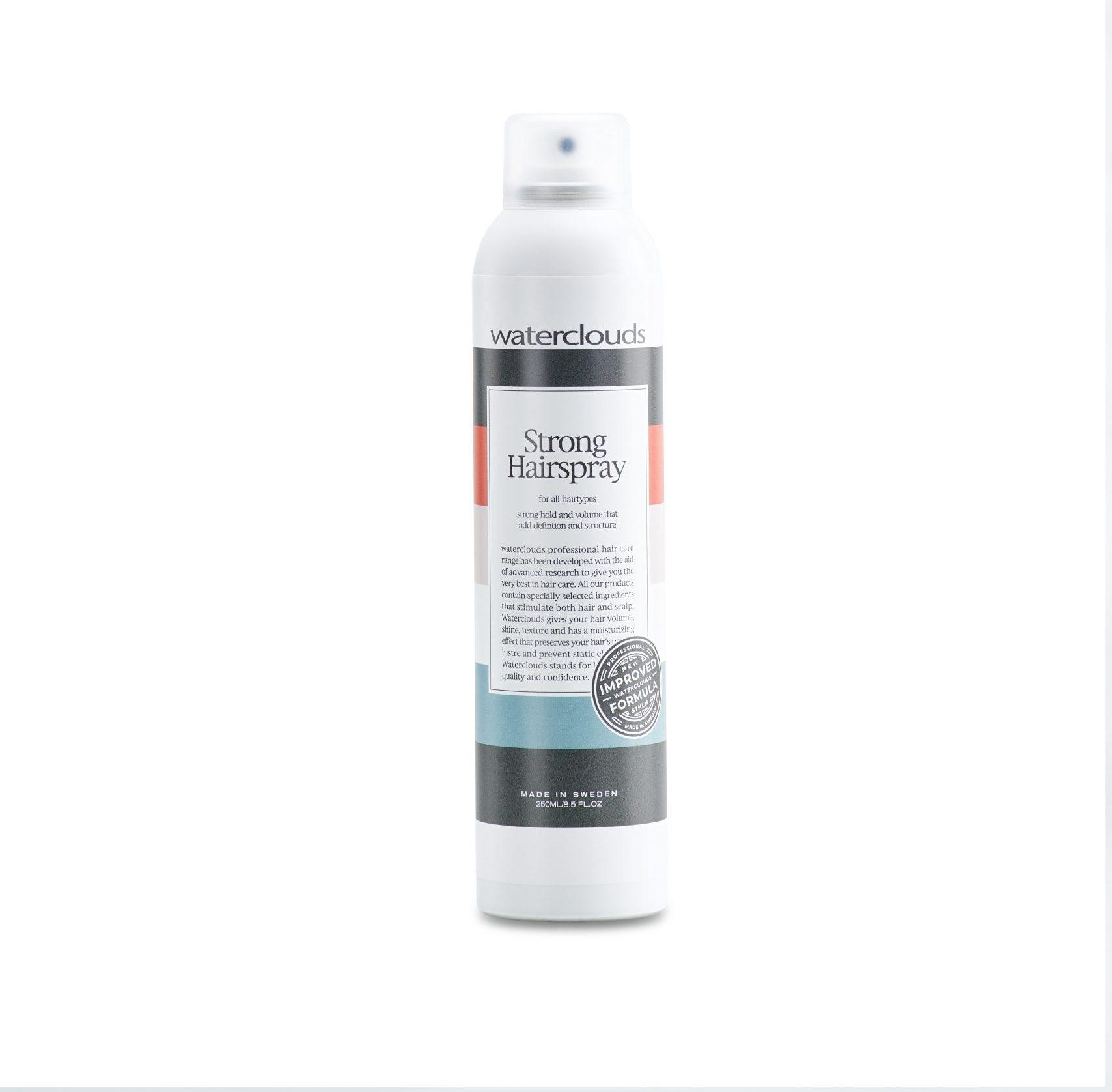 Strong Hairspray 250ml – Waterclouds